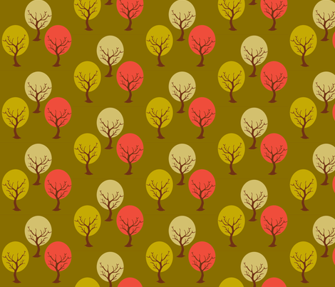 Tree sway green fabric by amy_frances_designs on Spoonflower - custom fabric