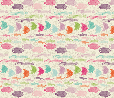 sea rush hour_small fabric by natasha_k_ on Spoonflower - custom fabric