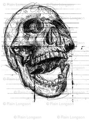 Scribble Skull