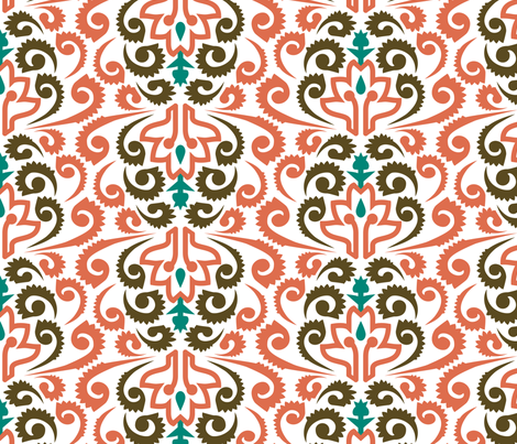 Moroccan Damask fabric by ravenous on Spoonflower - custom fabric