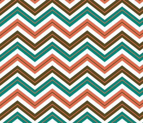 Moroccan Chevrons fabric by ravenous on Spoonflower - custom fabric