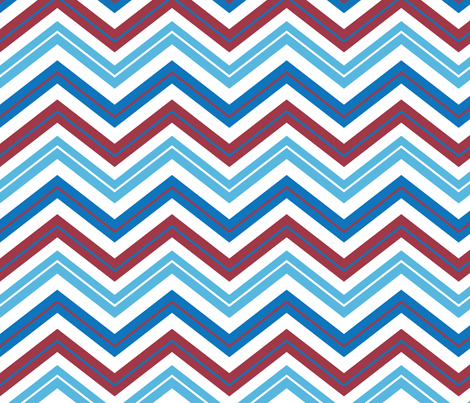 Chinoiserie Chevrons fabric by ravenous on Spoonflower - custom fabric