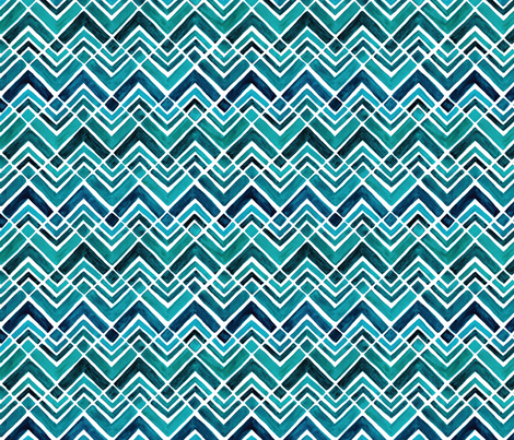 Arrowhead Watercolor Chevrons fabric by wildnotions on Spoonflower - custom fabric