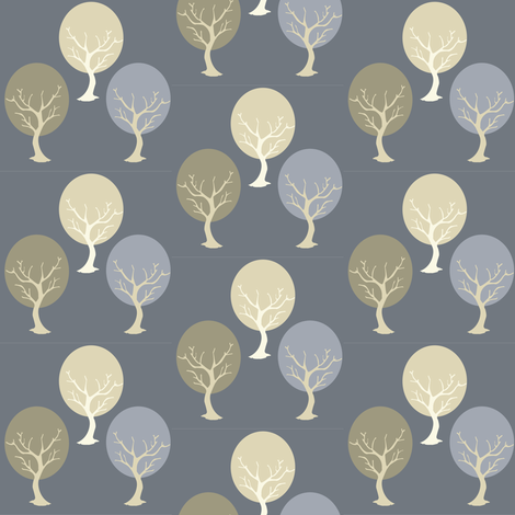 tree sway gray fabric by amy_frances_designs on Spoonflower - custom fabric