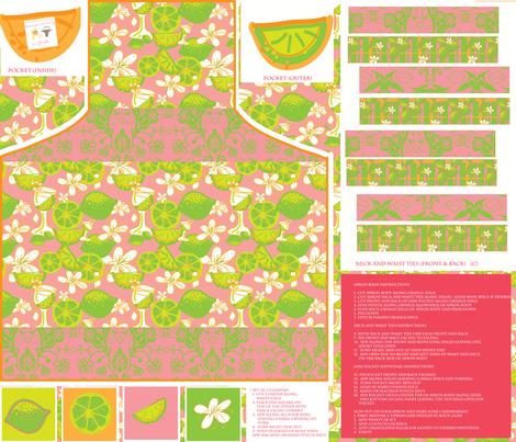 caipirinha apron fabric by palmrowprints on Spoonflower - custom fabric