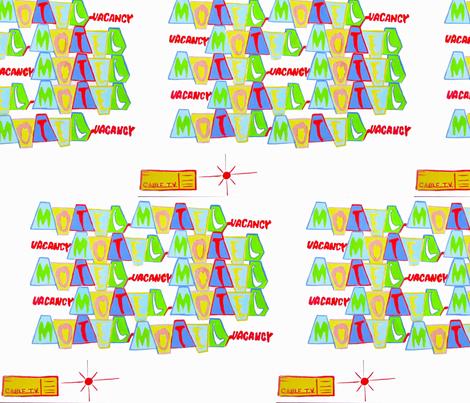 Motel Motel fabric by bettinablue_designs on Spoonflower - custom fabric