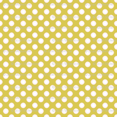 Polka dots on gold
