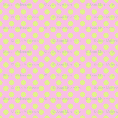 Farmhouse Dot Pink and Soft Green