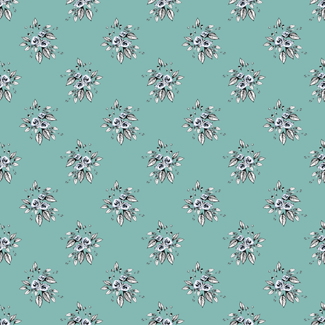 Farmhouse Roses Leah fabric by joanmclemore on Spoonflower - custom fabric