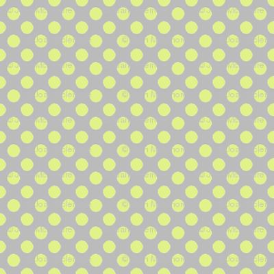 Farmhouse Dots Gray and Green
