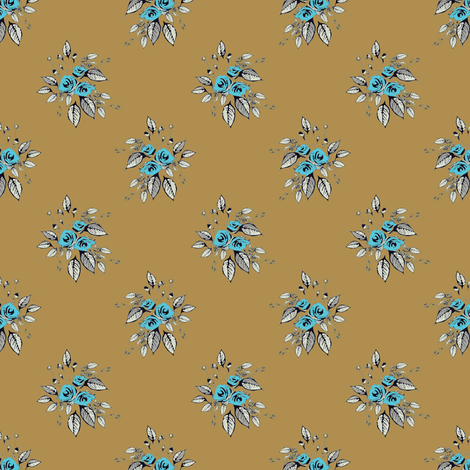 Farmhouse Roses Jessie fabric by joanmclemore on Spoonflower - custom fabric