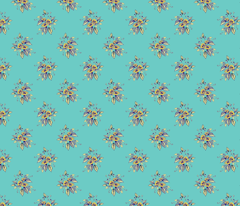 Farmhouse Roses Bessie fabric by joanmclemore on Spoonflower - custom fabric
