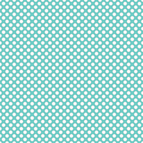 Farmhouse Dots Aqua fabric by joanmclemore on Spoonflower - custom fabric