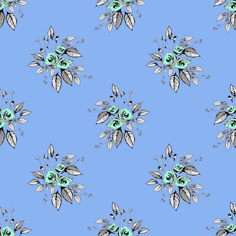 Farmhouse Roses Sharon fabric by joanmclemore on Spoonflower - custom fabric