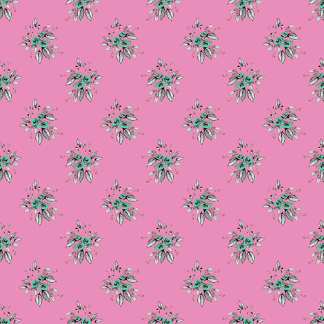Farmhouse Roses Dora fabric by joanmclemore on Spoonflower - custom fabric