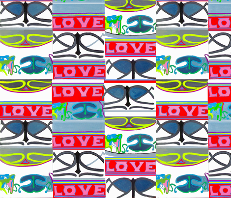 love love love fabric by bettinablue_designs on Spoonflower - custom fabric