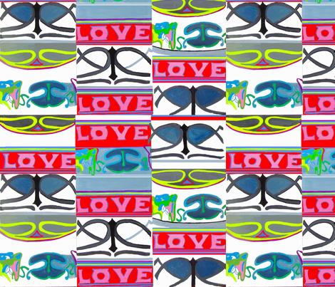 love love love fabric by bettinablue_designs on Spoonflower - custom fabric