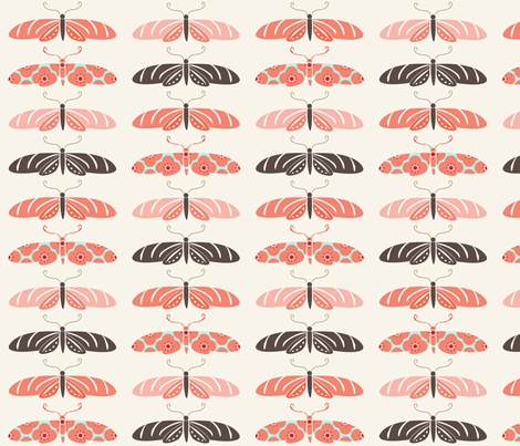 La Chasse aux Papillons fabric by kayajoy on Spoonflower - custom fabric
