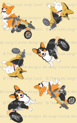 Corgi's on wheels small - tan
