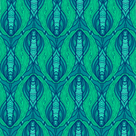 green_fish fabric by kirpa on Spoonflower - custom fabric
