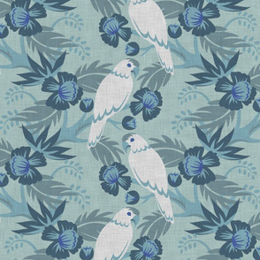 Art Deco Parrot White