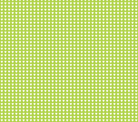 heart green fabric by katarina on Spoonflower - custom fabric