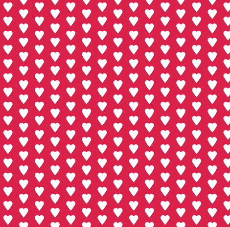 heart red fabric by katarina on Spoonflower - custom fabric