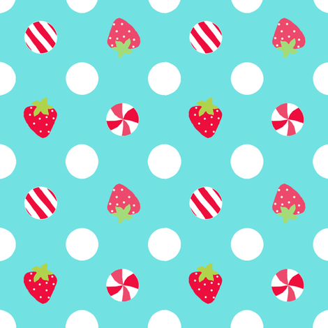 strawberry dot fabric by katarina on Spoonflower - custom fabric