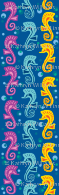 Seahorses of 3 different kind.