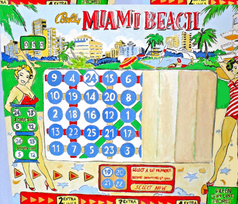 Miami Beach - pinball fabric by bettinablue_designs on Spoonflower - custom fabric