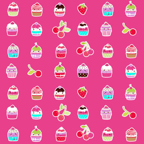 cupcakes with fruit fabric by katarina on Spoonflower - custom fabric