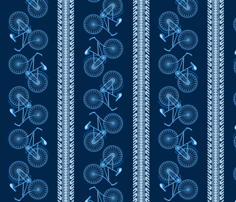 I want to ride my bicycle blue eyes fabric by glimmericks on Spoonflower - custom fabric