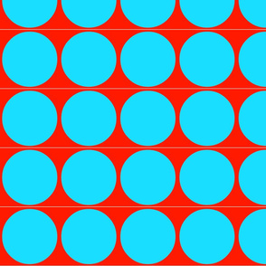 Big Dots in Red & Aqua