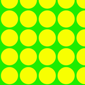 Big Dots in Green and Yellow
