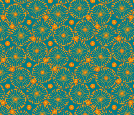 bicyclewheels_and_gears opulent fabric by glimmericks on Spoonflower - custom fabric
