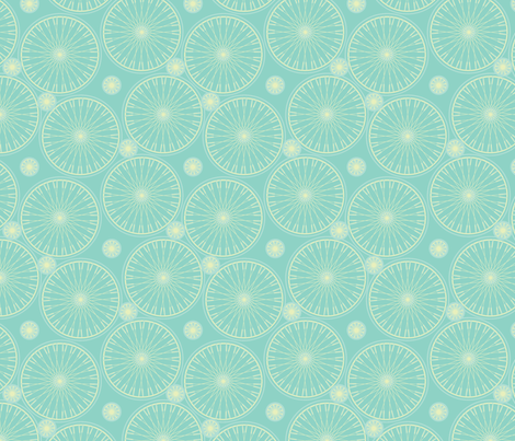 bicycle wheels and gears seafoam fabric by glimmericks on Spoonflower - custom fabric