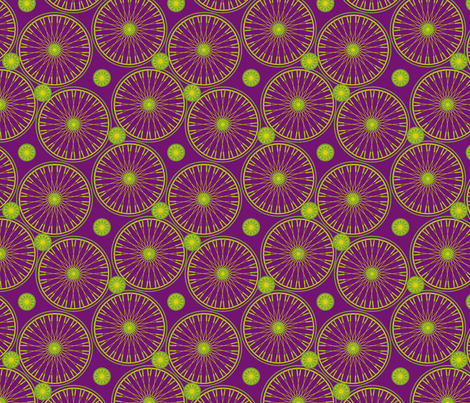 bicyclewheels_and_gears frankestein fabric by glimmericks on Spoonflower - custom fabric