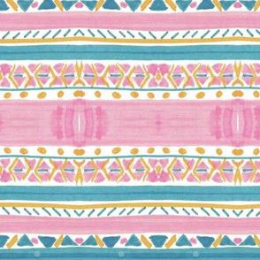 Pink Aqua Stripes