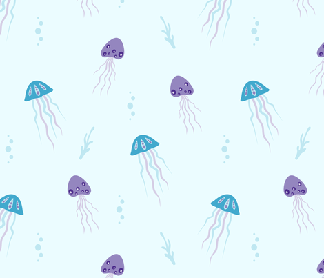 jellyfish light fabric by feathertree on Spoonflower - custom fabric