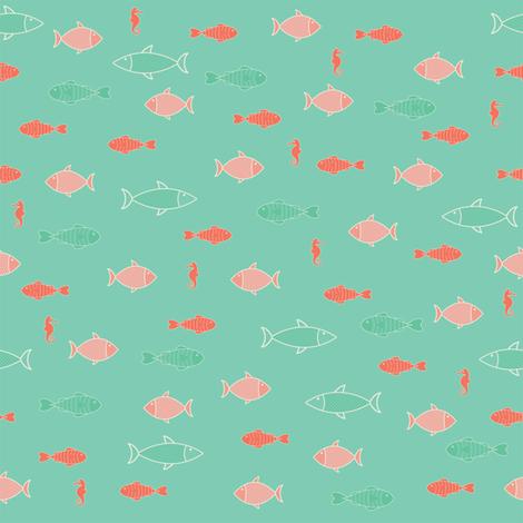 Emerald sea fabric by eddilosmilzo on Spoonflower - custom fabric