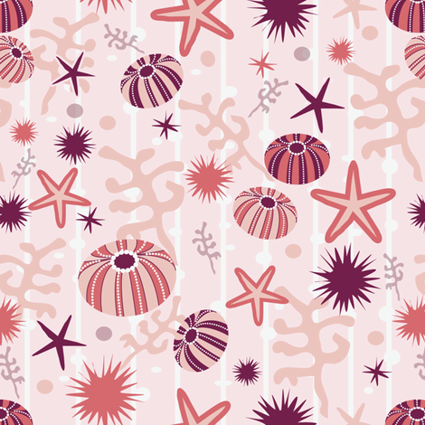 sea_urchin_ditsy fabric by lilliblomma on Spoonflower - custom fabric