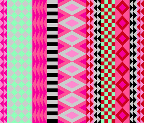 Cheater quilt - pink fabric by cleverviolet on Spoonflower - custom fabric
