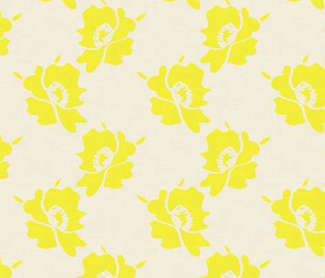 Daffodil canvas fabric by fabricfarmer_by_jill_bull on Spoonflower - custom fabric