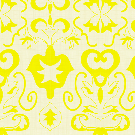 Summer fountain damask fabric by fabricfarmer_by_jill_bull on Spoonflower - custom fabric