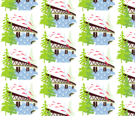 Sellwood Bridge fabric by malien00 on Spoonflower - custom fabric