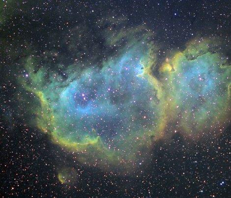 Soul nebula selleka fabric tingish spoonflower for Nebula fabric