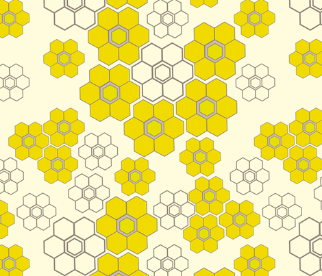 honey flower fabric by fable_design on Spoonflower - custom fabric