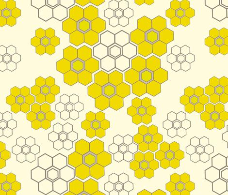 honey flower fabric by fable_design on Spoonflower - custom fabric