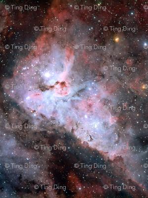 The great carina nebula fabric tingish spoonflower for Nebula fabric by the yard
