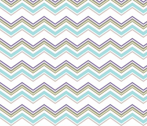 Aqua_chevron fabric by designedtoat on Spoonflower - custom fabric